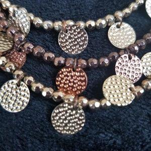Jewelry - Gold Brown Copper Multi-Strand Necklace